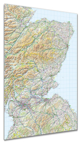 Map Poster - GB Regional Map - Scotland (southeast)