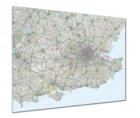 Map Poster - GB Regional Map - Southeast England