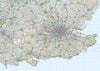 Map Poster - GB Regional Map - Southeast England - Love Maps On...