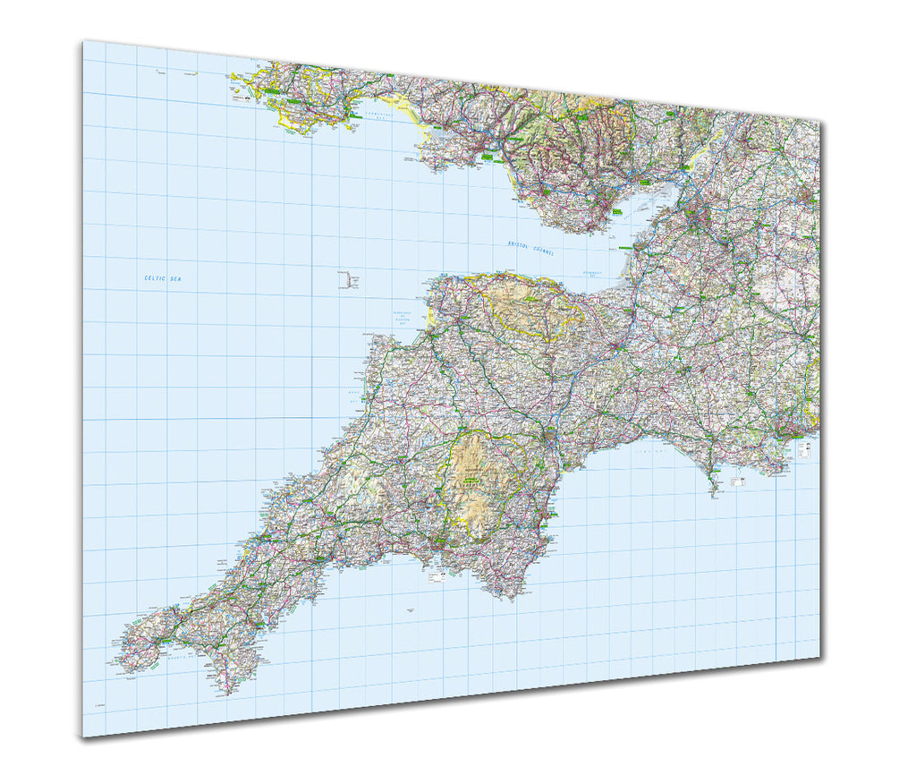 Map Poster - GB Regional Map - Southwest England - Love Maps On...