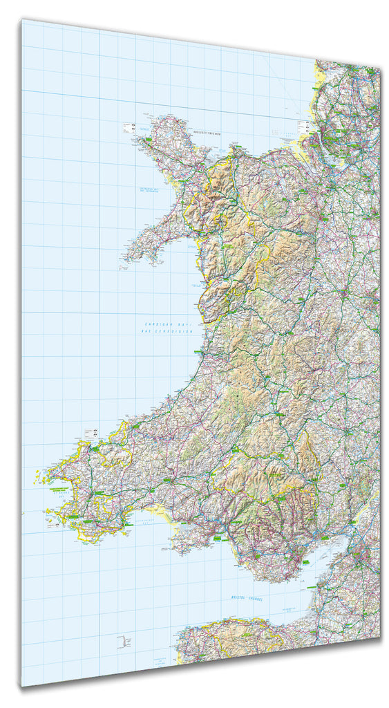 Map Poster - GB Regional Map - Wales - Love Maps On...