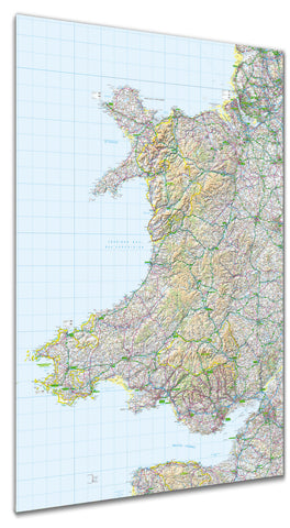 Map Poster - GB Regional Map - Wales