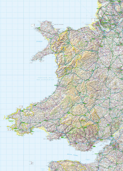 Map Poster - GB Regional Map - Wales from Love Maps On...