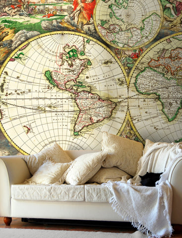 Custom made map wallpaper from love maps on map wallpaper van schagen world map gumiabroncs Image collections