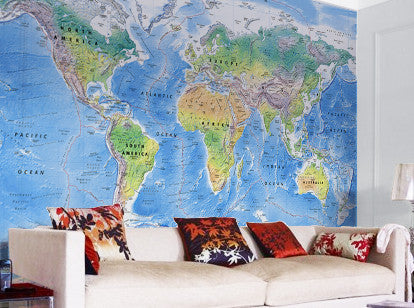 Map Wallpaper - Physical World Map - Love Maps On... - 1