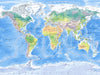 Map Poster - Physical World Map - Love Maps On... - 4