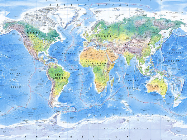 Map Wallpaper Physical World Map From Love Maps On