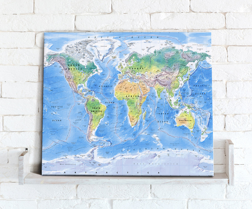 Map Canvas - Physical World Map - Love Maps On...