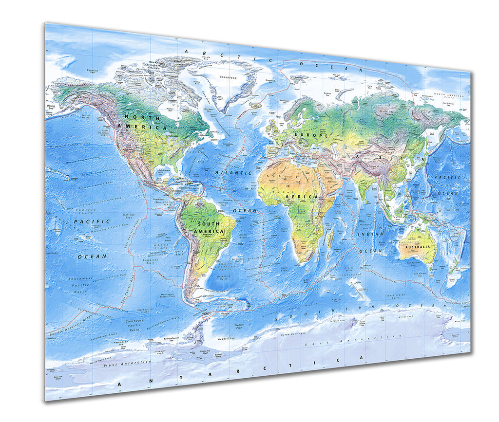 Map Poster - Physical World Map - Love Maps On...