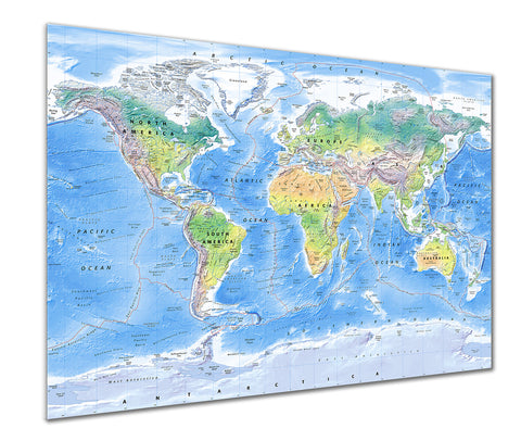 Map Poster - Physical World Map