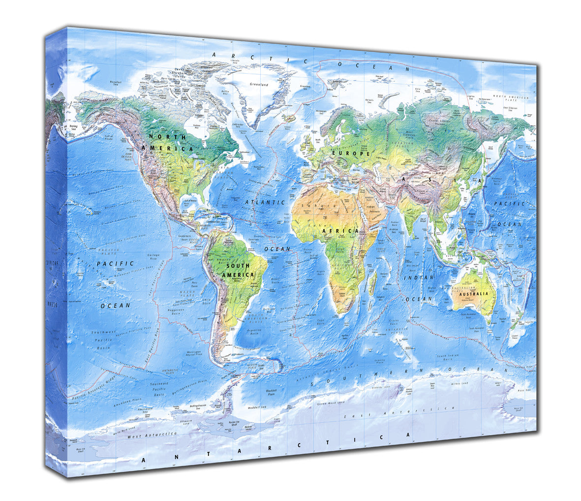 Map Canvas Physical World Map From Love Maps On - Physical world map
