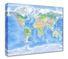 Map Canvas - Physical World Map - Love Maps On... - 2
