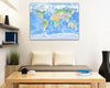 Map Canvas - Physical World Map - Love Maps On... - 3