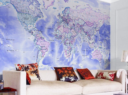 Map Wallpaper - Political World Map - Classic - Love Maps On... - 1