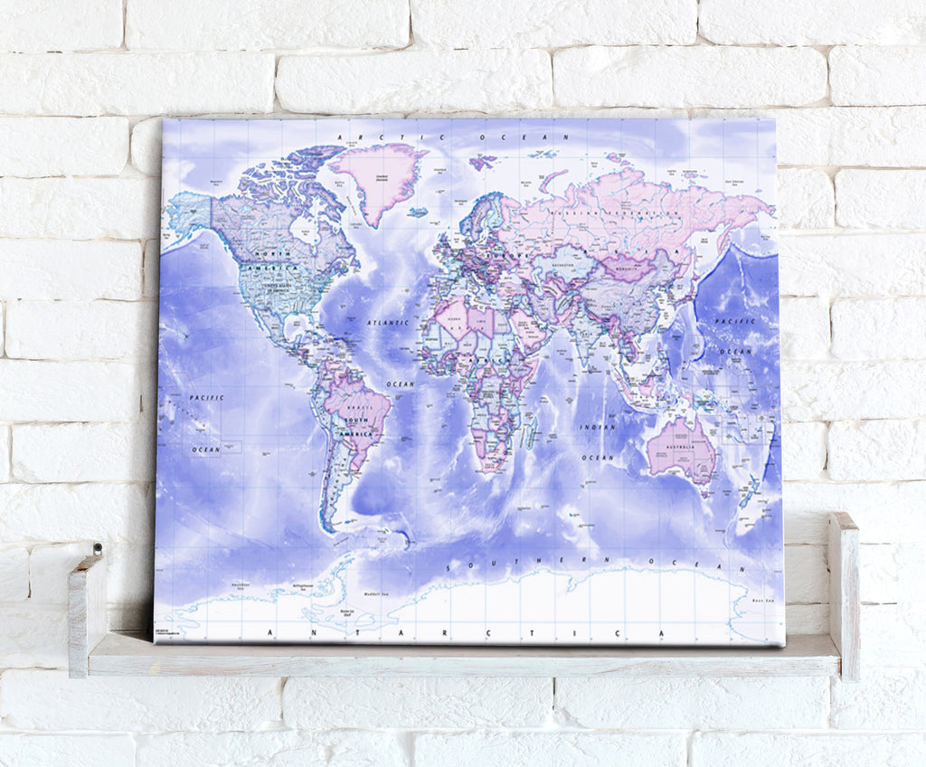 Map Canvas - Political World Map - Classic - Love Maps On...