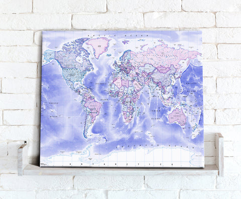 Map Canvas - Political World Map - Classic
