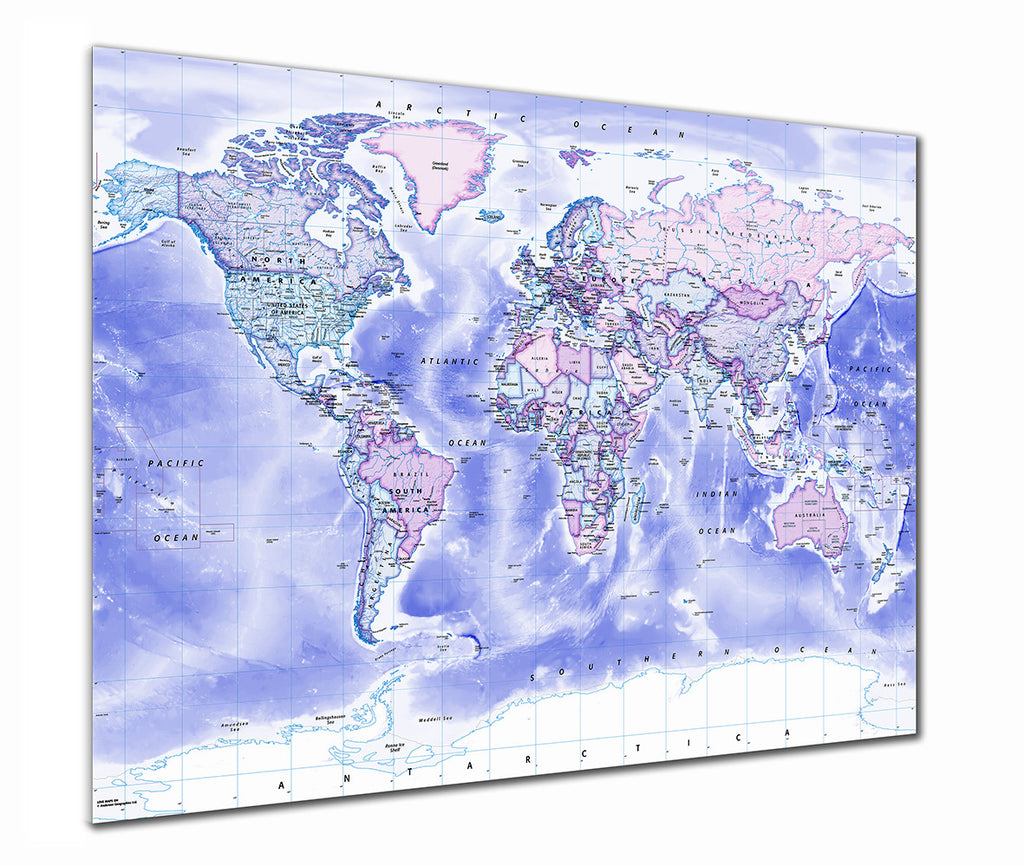Map Poster - Political World Map - Classic - Love Maps On... - 1