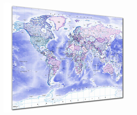 Map Poster - Political World Map - Classic