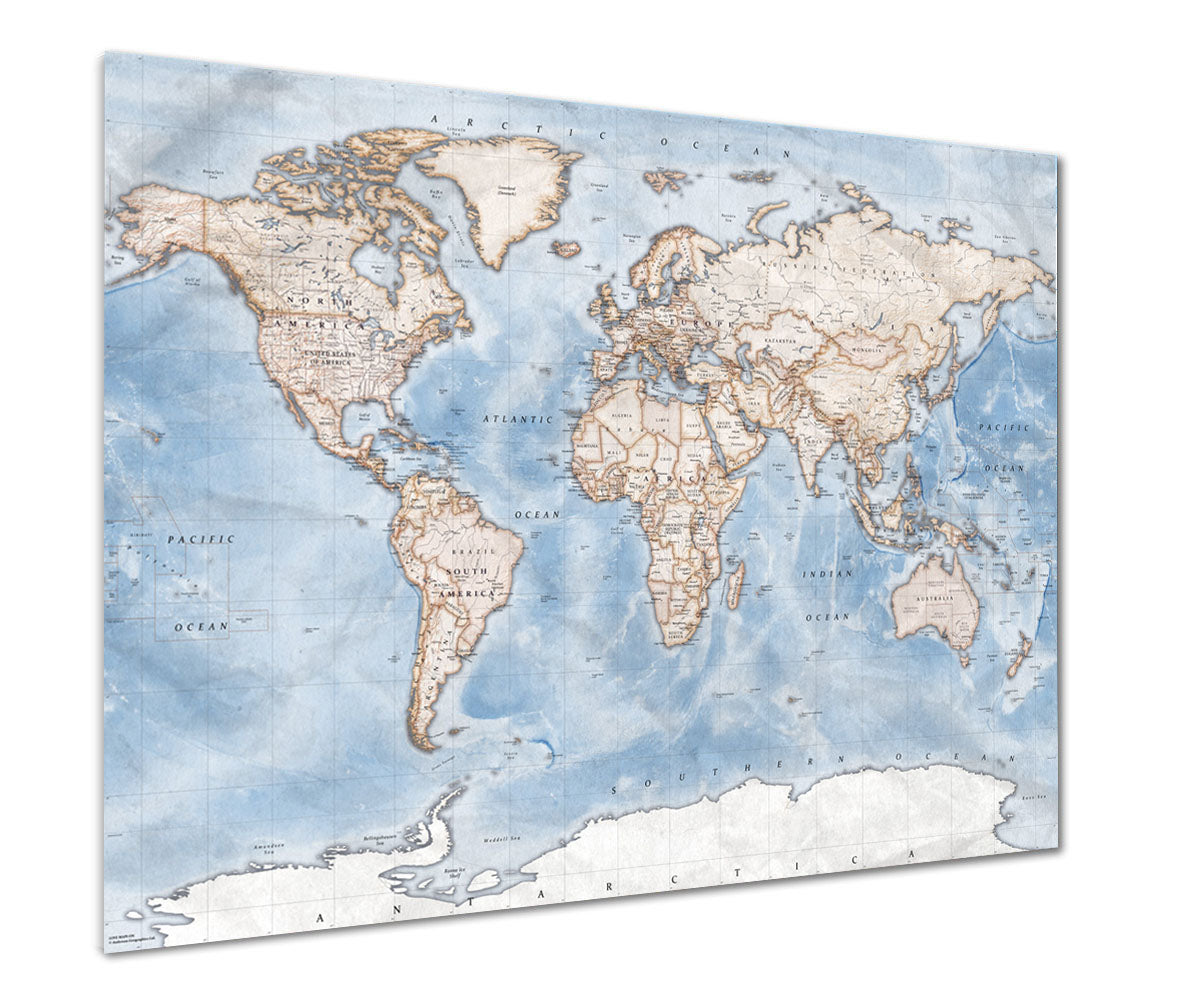 Political World Map Discovery From Love Maps On