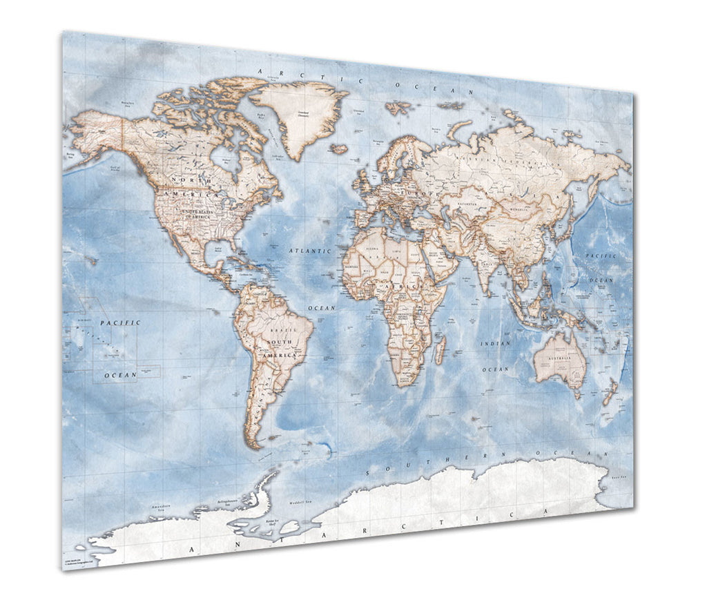 Political World Map - Discovery Poster Print- Love Maps On...
