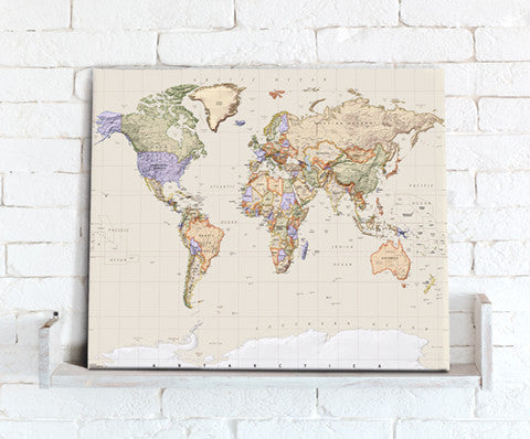 Map canvas prints from love maps on map canvas political world map empire gumiabroncs Choice Image
