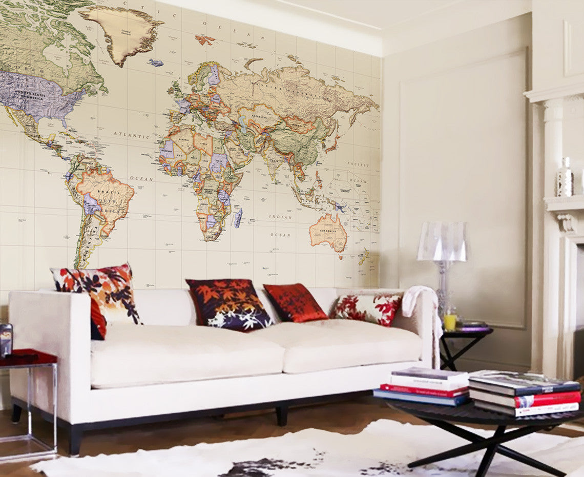 Map wallpaper political world map empire from love for Home wallpaper world map