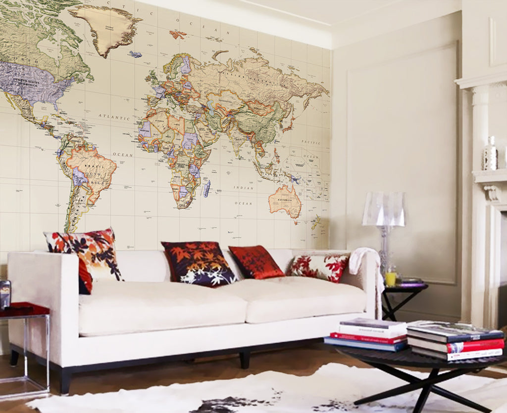 Map Wallpaper - Political World Map - Empire - Love Maps On... - 1