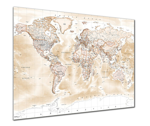 World map posters from love maps on map poster political world map antique freerunsca Choice Image