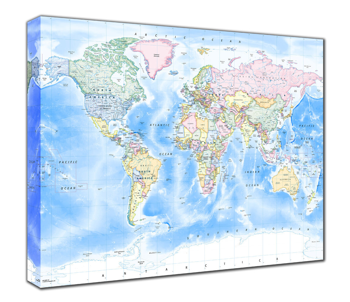 Map Canvas - Political World Map - Traditional from Maps On... on
