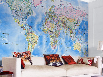 Map Wallpaper - Political World Map - Traditional