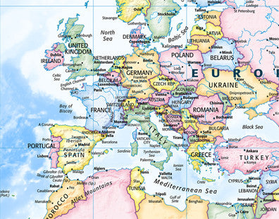 Map poster political world map traditional from love maps on map poster political world map traditional love maps on gumiabroncs Images