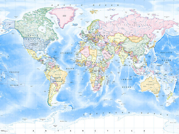 Map Poster Political World Map Traditional From Love Maps On - Political world map