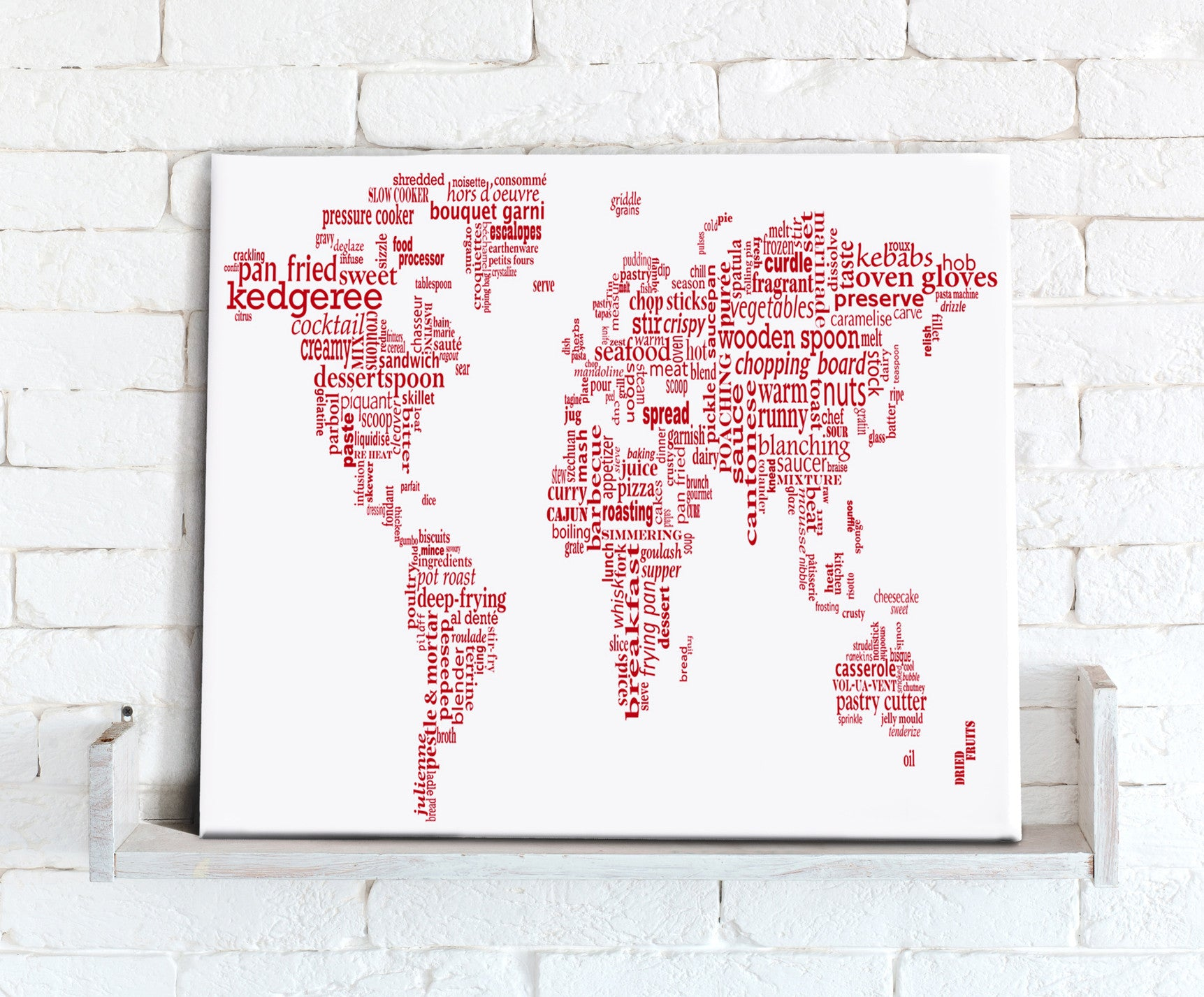 Map Canvas Text Art World Map Food Theme Red From Love Maps On - Pink world map poster