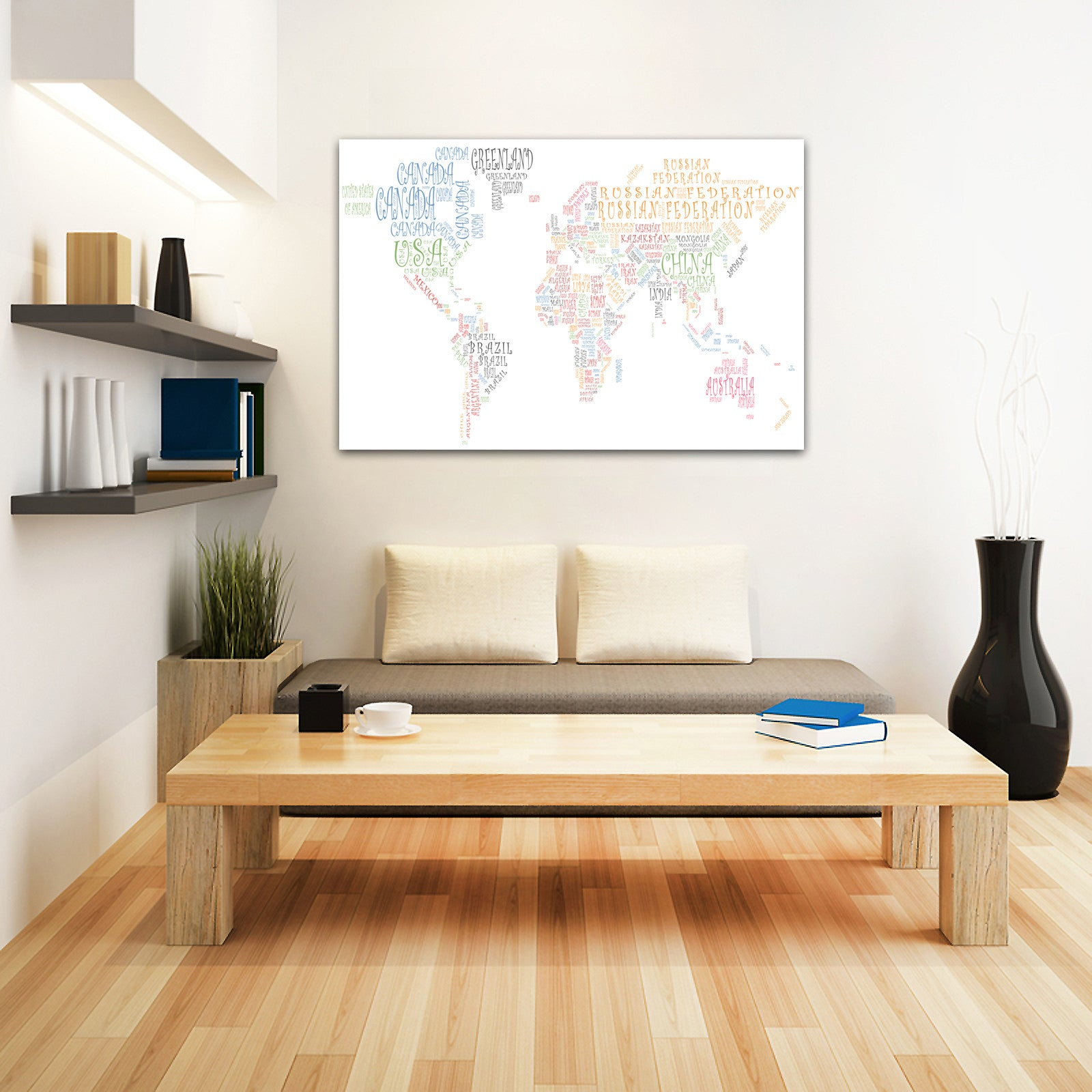 Map canvas text art world map countries multicoloured from love map canvas text art world map countries multicoloured love maps on gumiabroncs Image collections