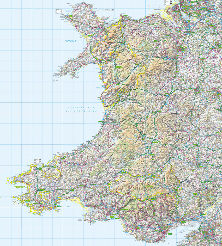 Map Wallpaper  - Wales - Love Maps On... - 1