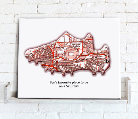 Personalised Football Stadium Map - Canvas Print