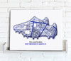 Football Stadium Map - Canvas Print - Love Maps On...