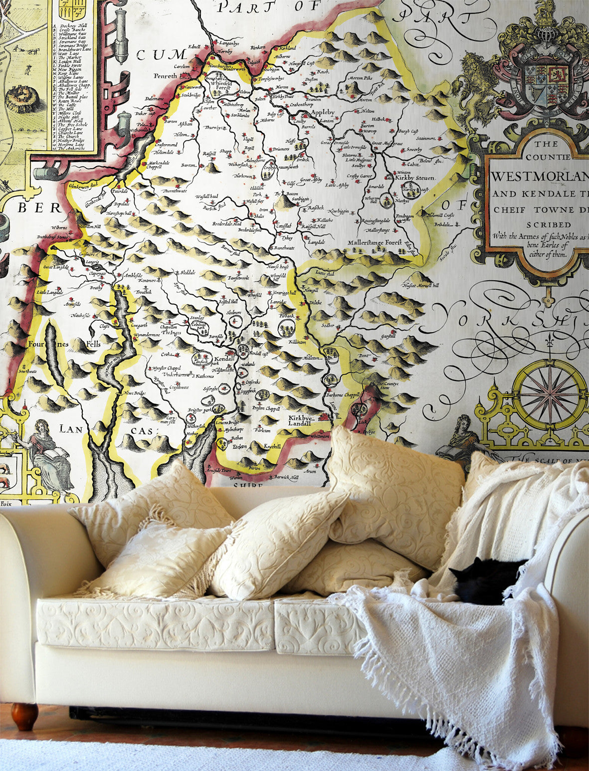 Map Wallpaper - Vintage County Map - Westmoreland