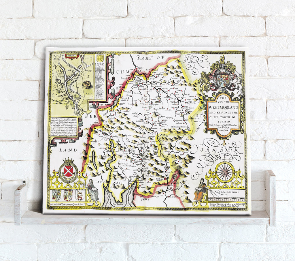 Map Canvas - Vintage County Map - Westmoreland - Love Maps On...