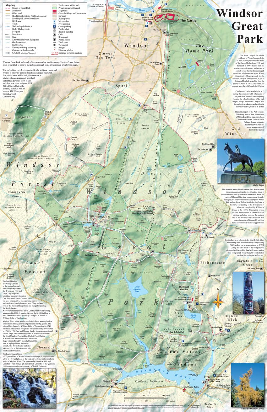 Map of Windsor Great Park: The Essential Maps of Windsor ...