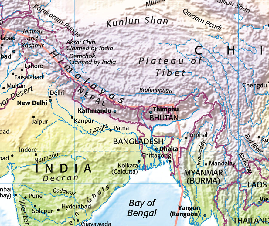 Map Poster - Ultimate World Map from Maps On... on new town kolkata map, bombay calcutta on a map, bengali calcutta map, kolkata west bengal on a map, asia calcutta map, kolkata calcutta diagram, india calcutta map,