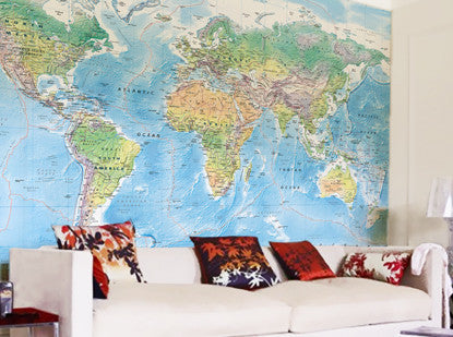 Custom made map wallpaper from love maps on map wallpaper ultimate world map gumiabroncs Gallery