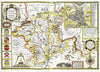 Map Canvas - Vintage County Map - Worcestershire - Love Maps On... - 2