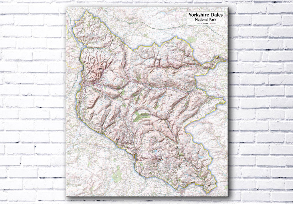 Yorkshire Dales National Park Map Canvas Print - love maps on...