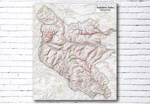 Yorkshire Dales National Park - Map Poster