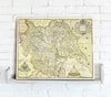 Map Canvas - Vintage County Map - Yorkshire - Love Maps On... - 2
