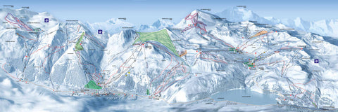 Espace Killy - Piste Map Canvas Print