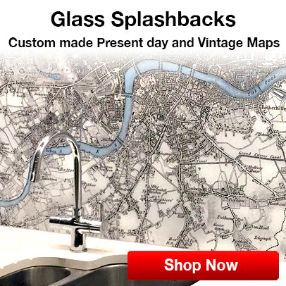 custom victorian street map glass splashback