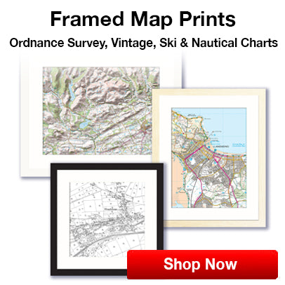 Custom vintage ordnance survey map canvas
