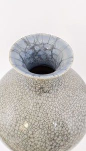 Crackle Glaze Meiping | Elegant Ceramics Vase | Asian Pottery